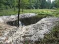 Na nejnižším místě vypuštěného rybníka u Železného mostu v katastru Velké Kraše. Tůň byla na jaře 2014 masivně začolkována. Dosvědčí to i děti ze ZŠ Stará Červená Voda - foceno zárí 2013